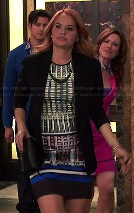 Jessie's mixed print dress on Jessie