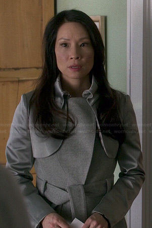 Joan's grey coat on Elementary