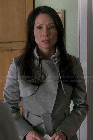 Joan's grey coat on Elementary