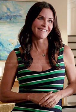 Jules's green striped tank top on Cougar Town