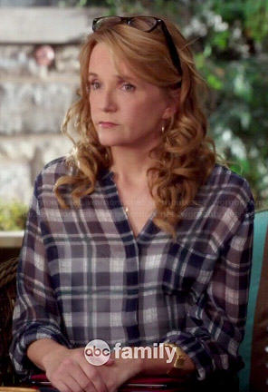 Kathryn's plaid blouse on Switched at Birth