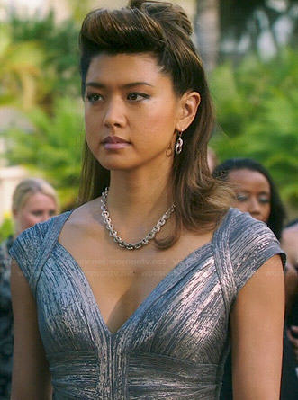 Kono's silver bandage gown on Hawaii Five-0
