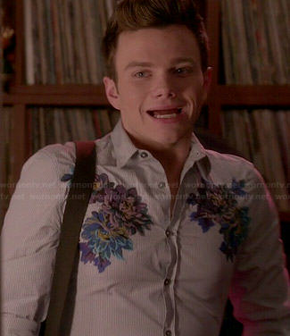 Kurt's floral embroidered shirt on Glee