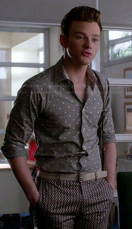Kurt's grey polka dot shirt on Glee