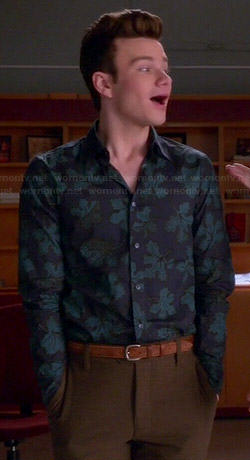 Kurt's maple leaf print shirt on Glee