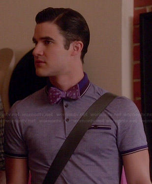 Blaine's purple polo shirt on Glee