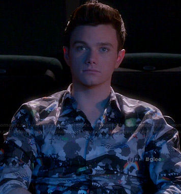 Kurt's rainbow printed shirt on Glee