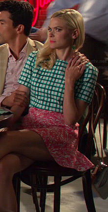 Lemon's green checked top and pink skirt on Hart of Dixie