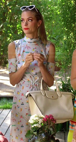 Lemon's novelty printed cold-shoulder dress on Hart of Dixie