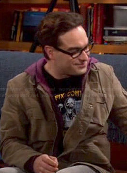Leonard's 'Will Fix Computer For Brains' shirt on The Big Bang Theory