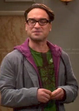 Leonard's green upside down tree shirt on The Big Bang Theory