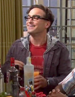 Leonard's red periodic table shirt on The Big Bang Theory