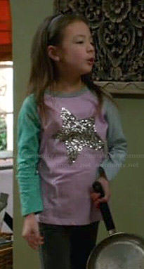 Lily's colorblock star tee on Modern Family