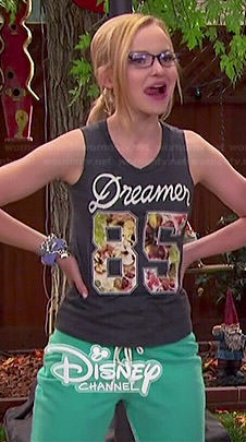 Maddie's Dreamer 85 muscle tank on Liv and Maddie