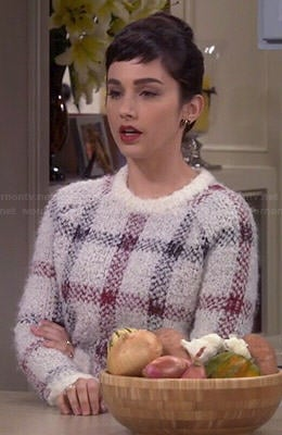 Mandy's checked sweater on Last Man Standing