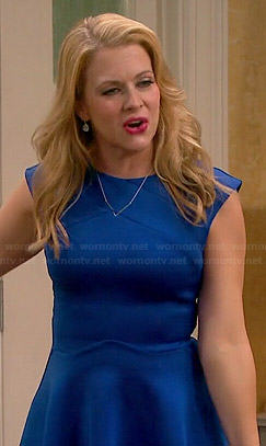 Mel's blue skater dress on Melissa and Joey