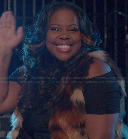 Mercedes's fur vest on Glee