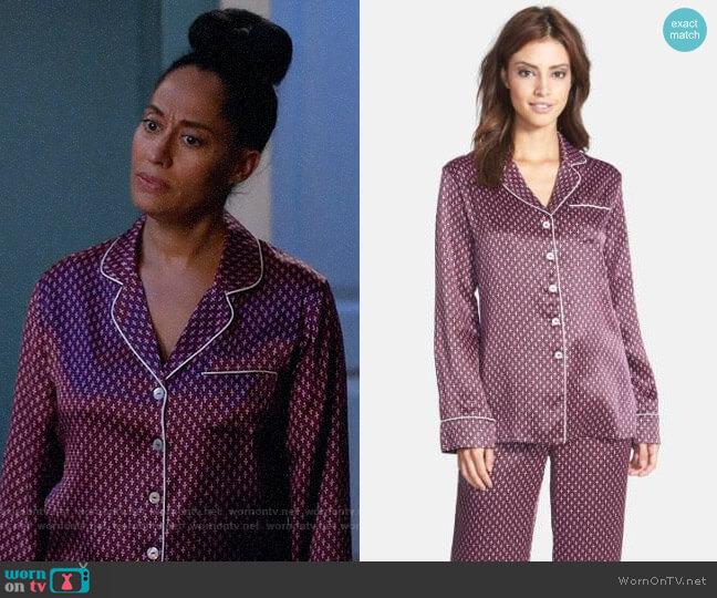 Olivia von Halle Lila Pajamas in Jet Black Mira Print