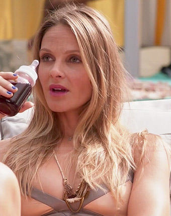Phoebe's nude and silver bikini on Girlfriends Guide to Divorce