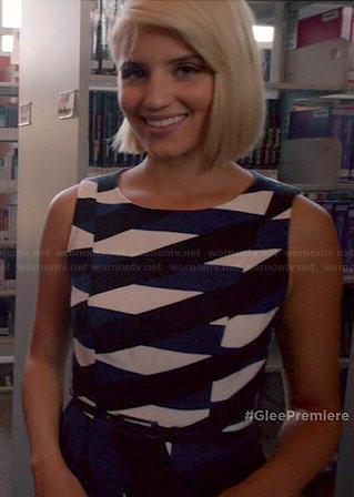 Wornontv Mercedes S Fur Vest On Glee Amber Riley