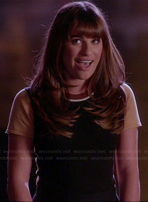 Rachel's colorblock top on Glee