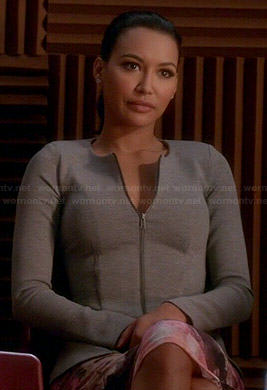 Santana's grey peplum jacket on Glee