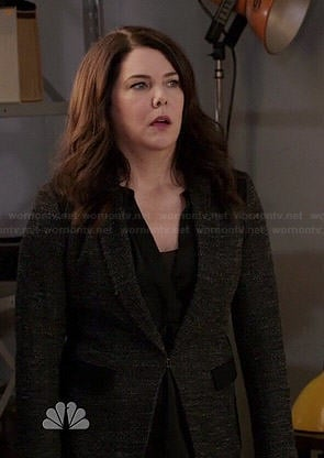 Sarah's charcoal blazer with black panels on Parenthood