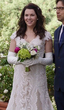 Sarah's wedding dress on Parenthood