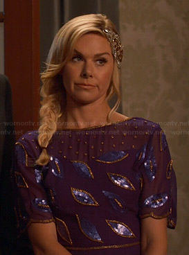 Shelby's purple sequinned dress on Hart of Dixie