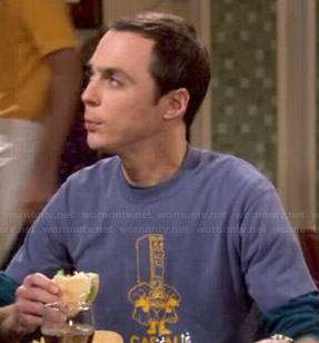 Sheldon's Captain QO shirt on The Big Bang Theory