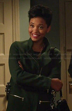 Sofia's green coat on Eye Candy