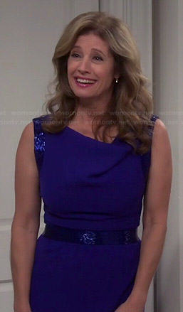 Vanessa's blue mother of the bride dress on Last Man Standing
