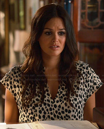 Zoe's white leopard print shift dress on Hart of Dixie