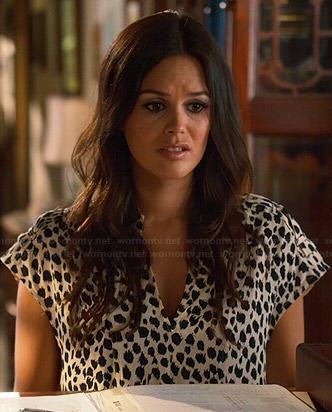 Zoe's white leopard print shift dress on Hart of Dixie