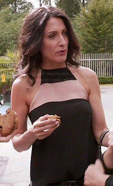 Abby's black mesh panel top on Girlfriends Guide to Divorce
