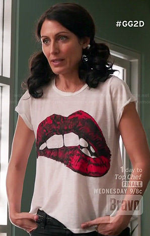 Abby's lip bite tee on Girlfriends Guide to Divorce