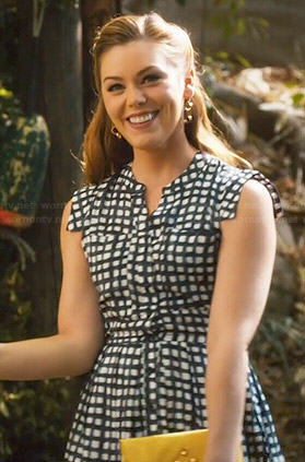 AnnaBeth's black and white checked dress on Hart of Dixie