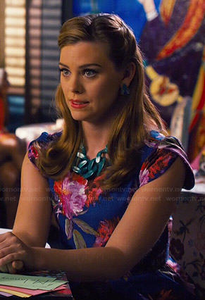 AnnaBeth's purple dress with black lace middle on Hart of Dixie
