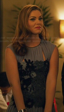 AnnaBeth's purple dress with black lace waist on Hart of Dixie