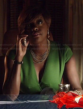 Annalise's green dress on How to Get Away with Murder