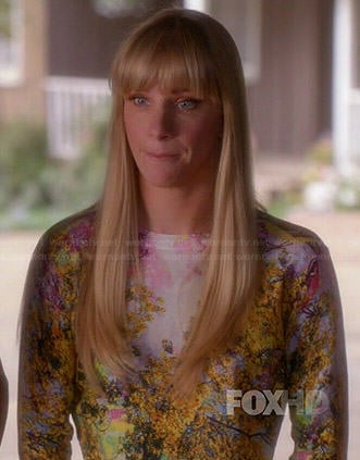 Brittany's tree print sweater on Glee