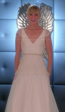 Brittany's wedding dress on Glee
