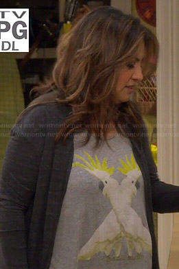 Cristela's cockatoo print top on Cristela