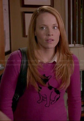 Daphne's pink dog sweater on Switched at Birth