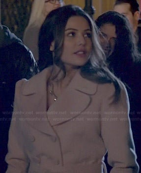 Davina's pink coat on The Originals