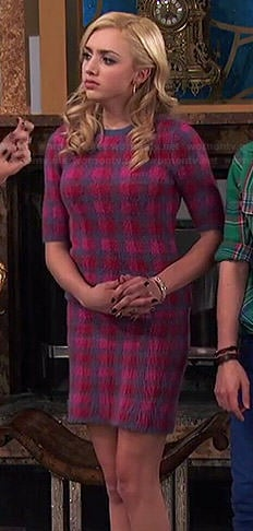 Emma's pink checked top and skirt set on Jessie