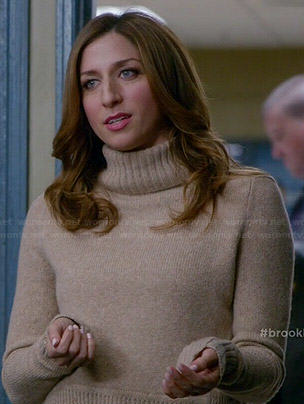Gina's beige turtleneck sweater on Brooklyn Nine-Nine