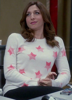 Gina's pink star print sweater on Brooklyn Nine-Nine