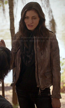 Hayley's grey leather jacket on The Originals
