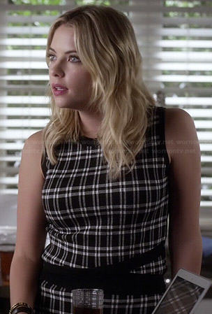 Hanna's plaid top and skirt set on Pretty Little Liars